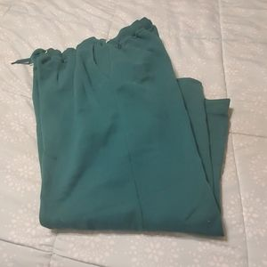 Womens green warm ups size M